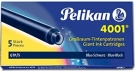 Pelikan Ink Cartridge 4001 GTP/5, Blue Black