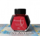 Waterman Ink Bottle, Audacious Red , 50ml