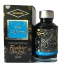 Diamine Fountain Pen Shimmer Ink 50ml, Blue Lighting