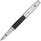 Monteverde Invincia Chrome Fountain Pen, Broad Nib