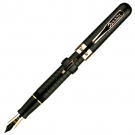 Conklin Mark Twain Black Chase Crescent Filler Rose Gold Trim FP, Medium Nib
