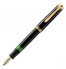 Pelikan Souveran Black M600 Fountain Pen, Fine Nib