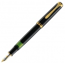 Pelikan Souveran Black M400 Fountain Pen, Fine Nib