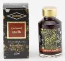 Diamine Fountain Pen Shimmer Ink 50ml, Caramel Sparkle