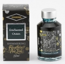 Diamine Fountain Pen Shimmer Ink 50ml, Enchanted Ocean