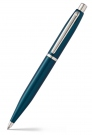 Sheaffer VFM Peacock Blue Nickel Trim Ball Pen