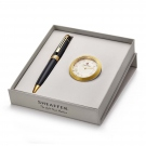 Sheaffer 300 Glossy Black GT BP with GT Table Clock