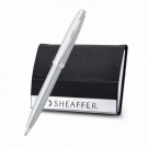 Sheaffer 100 Brushed Chrome BP with Business Card Holder