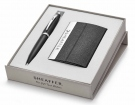 Sheaffer 100 Matt Black BP with Business Card Holder