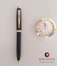 Sheaffer 100 Glossy Black BP with GT Table Clock