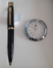 Sheaffer 100 Glossy Black BP with CT Table Clock