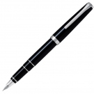 Pilot Falcon Metal Fountain Pen, Black, Soft Medium Nib