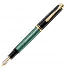 Pelikan Souveran Black Green M600 Fountain Pen, Extra Fine Nib
