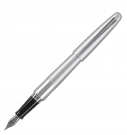 Pilot MR Metropolitan Silver Fountain Pen, Medium Nib
