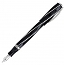 Visconti Divina Elegance Over Black Fountain Pen, Medium Nib