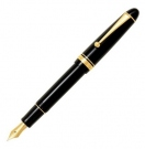 Pilot Custom742 Black Fountain Pen, Music Nib