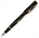 Visconti Divina Fashion Black Gold Fountain Pen, Medium Nib