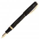 Visconti Medici Golden Black Over Fountain Pen, Broad Nib