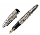 Namiki Sterling Silver Geisha Fountain Pen, Medium Nib
