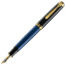 Pelikan Souveran Black Blue M800 Fountain Pen, Medium Nib