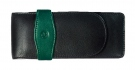 Pelikan 3 Pen Pouch, Black-Green